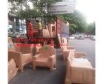 福田红木家具展销:家具打包、送货、发货现场